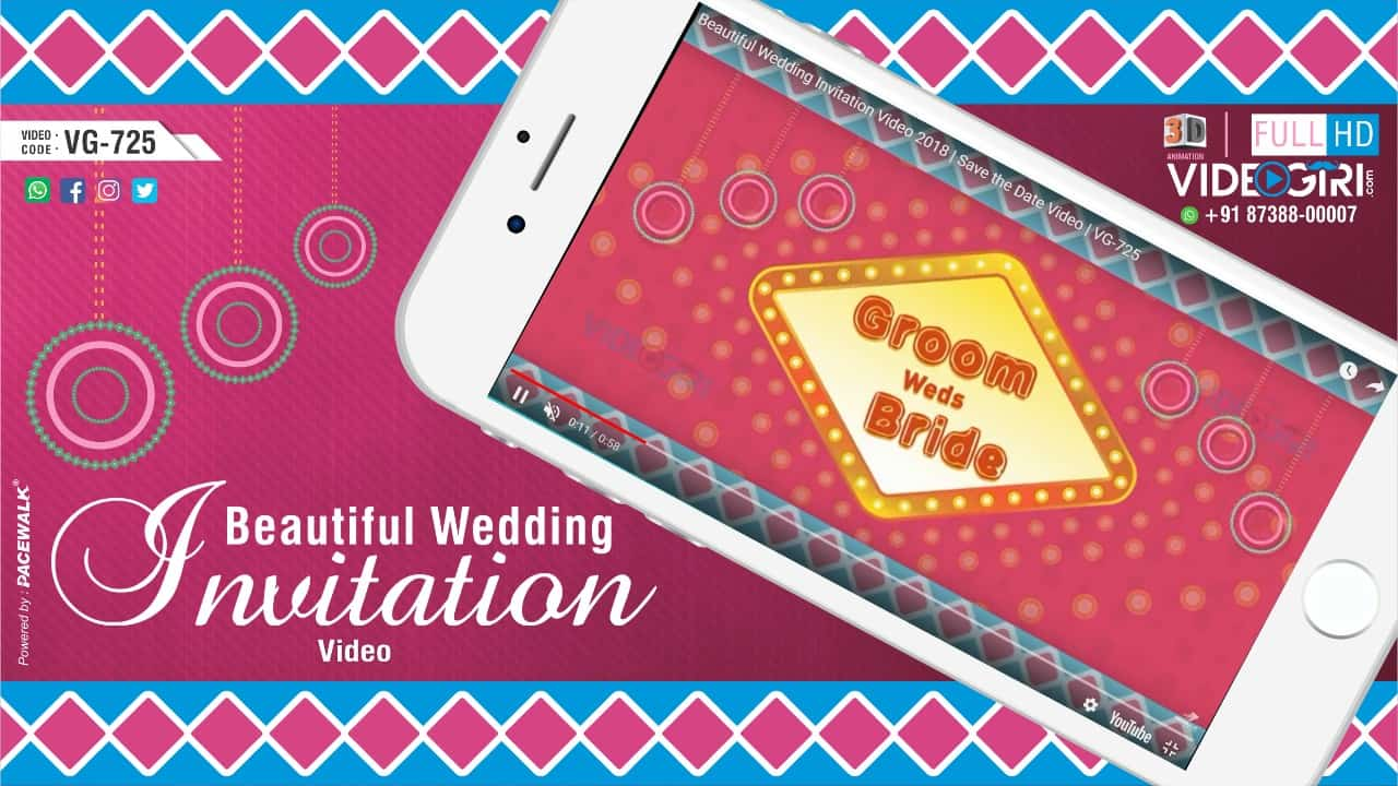 Beautiful Wedding Invitation Save the Date Video VG-725