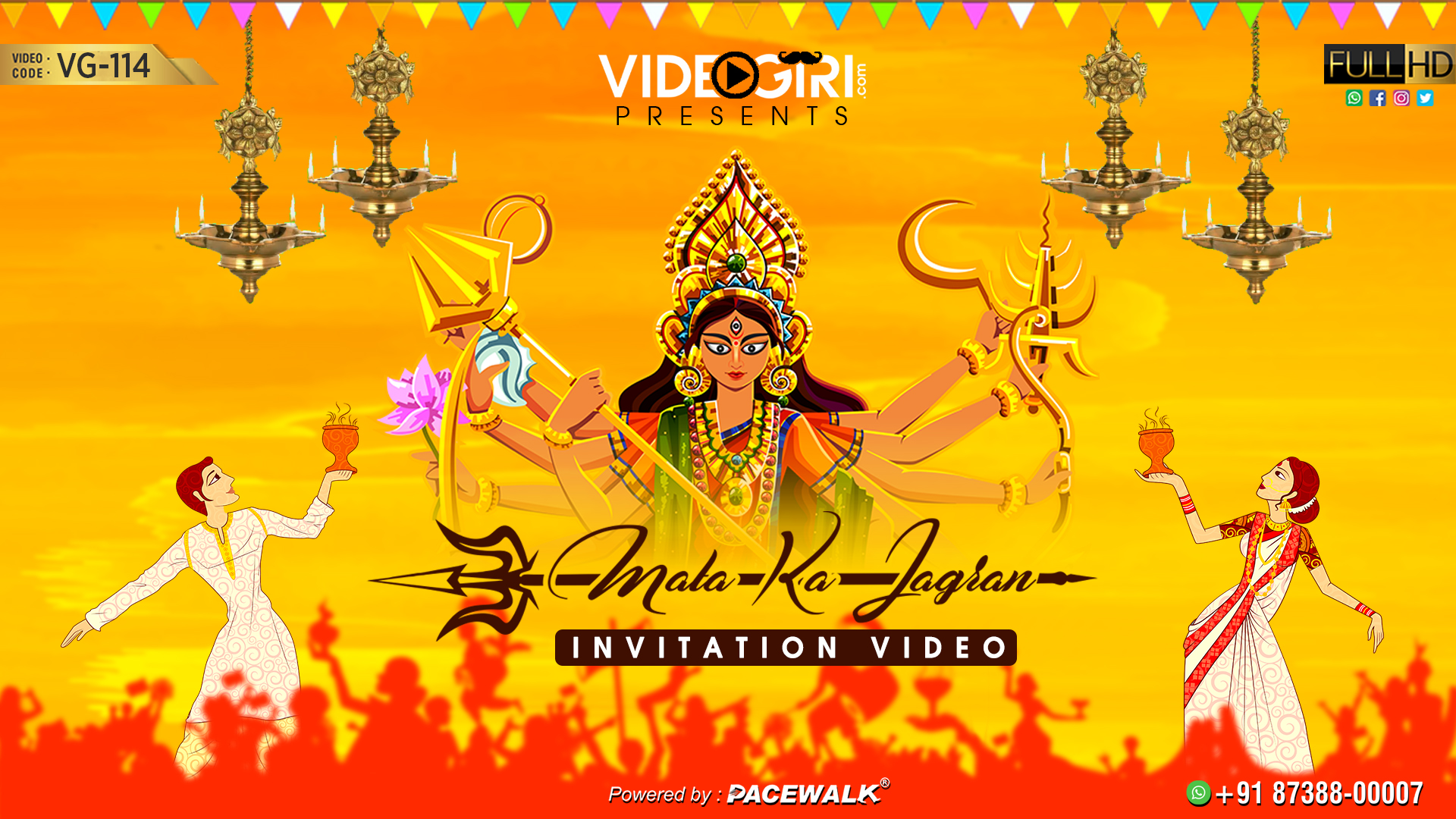 Animated Mata Ka Jagran Invitation Video Vg 114