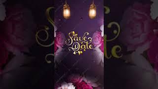Floral Theme Muslim Wedding Invitation Video